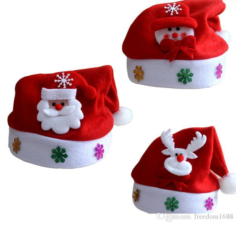 2019 New Christmas Decoration Hats High Grade Christmas Hat Santa Claus Hat  Cute Adults Christmas Cosplay Hats Free EMS From Freedom1688 365908ccd6bd