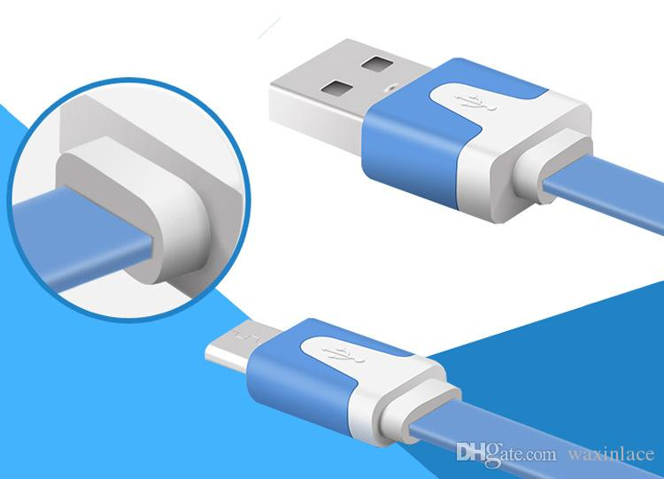 Top Micro Usb Cable Mini 1M Flat Noodle Micro USB Data Sync Charger Microusb Cable for Samsung S6 Android Accessories