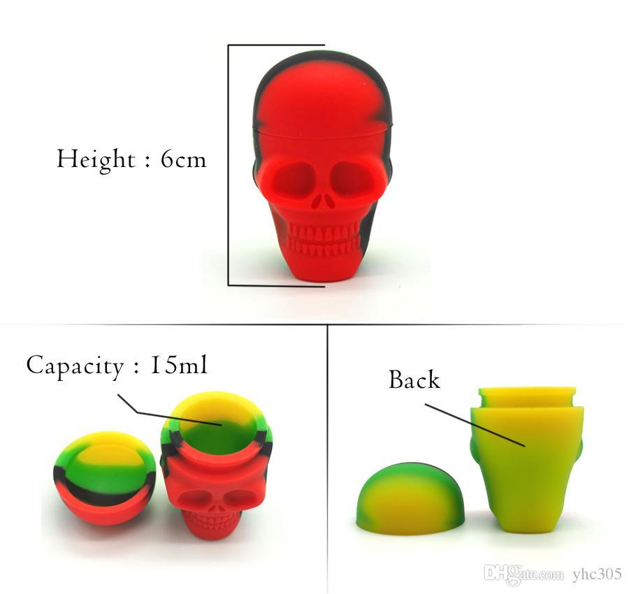 15 ml silikon container Nonstick wachs container silikon box lebensmittelqualität jars tupfen werkzeug lagerung jar öl halter für FDA genehmigt