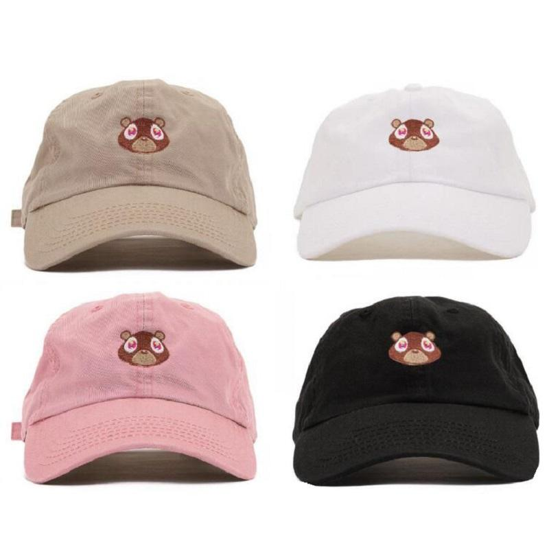 b071ac4f85f19 Wholesale Black Pink Kanye West Graduation College Dropout Bear Dad Hat Cap  Never Not Weird Baseball Cap Hip Hop Summer Snapback Basecaps Hats For Sale  From ...