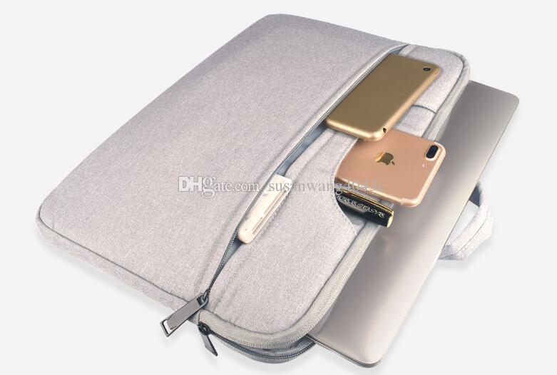 Bolsa de revestimiento portátil a prueba de golpes maletín portátil para Macbook ipad air pro 13 14 15.6 pulgadas portátil bolso protector de tableta estuches DN006
