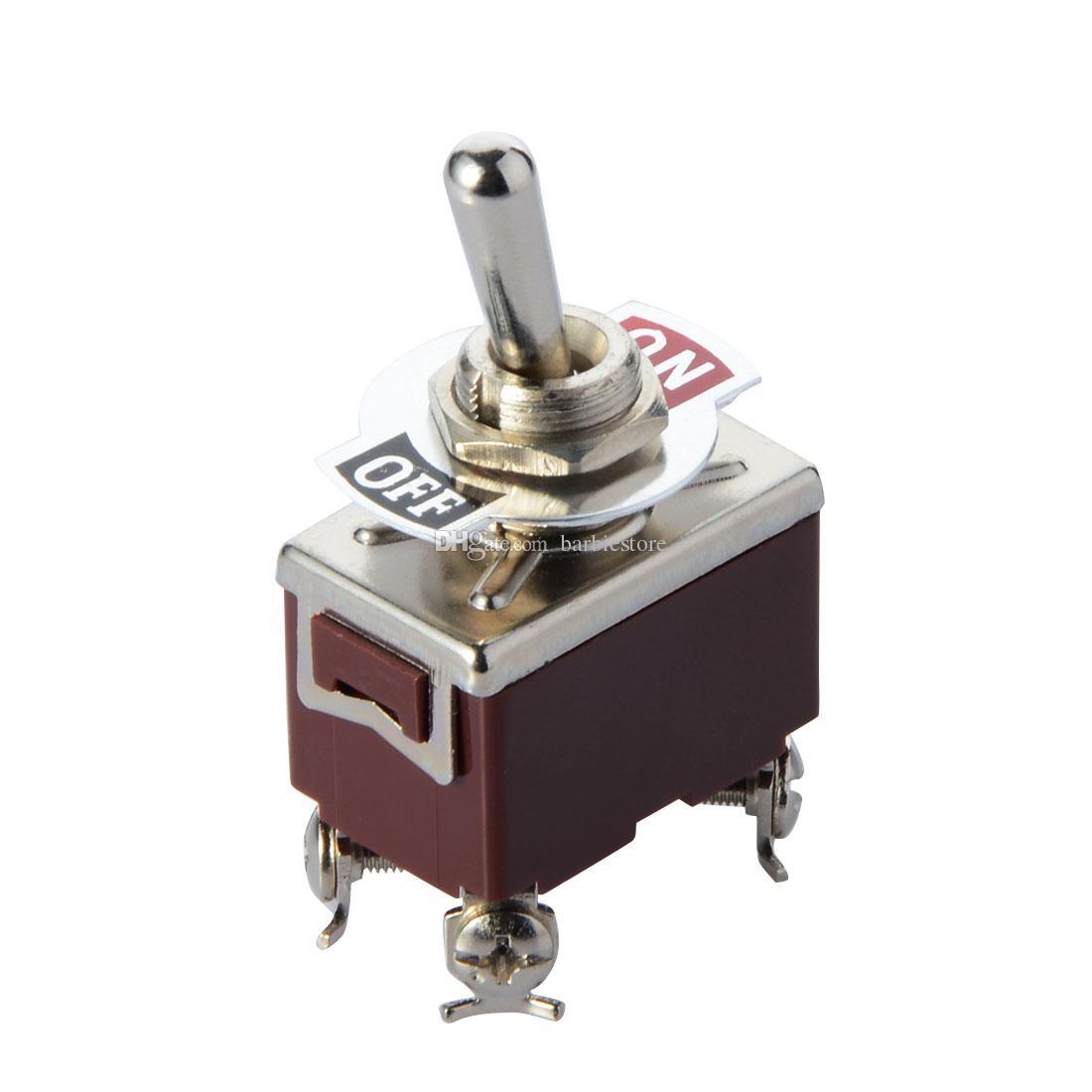 Detalles sobre el reemplazo universal ENCENDIDO / APAGADO / ENCENDIDO Interruptor de palanca DPDT 2P2T momentáneo CA 250V / 15A B00450