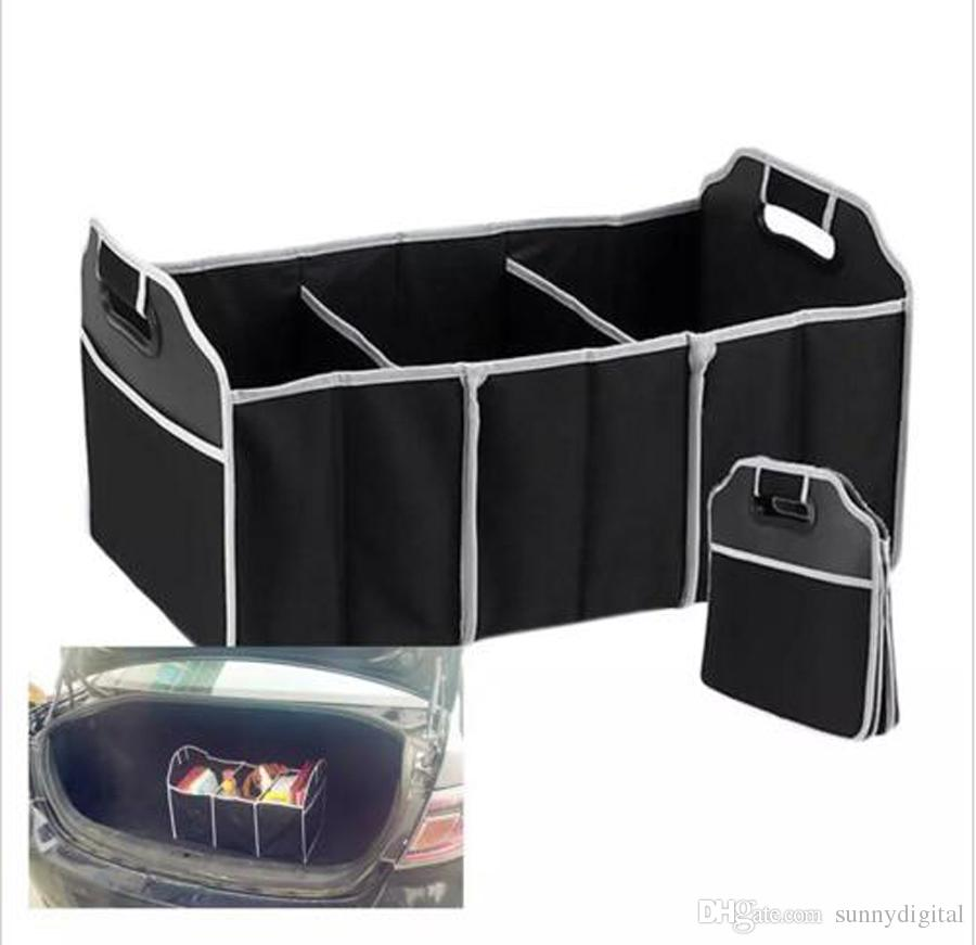 Collapsible Car Trunk Organizer Truck Cargo Portable Tools Folding Storage  Bag Case Space Saving Auto Boot Organizer Leather Purses Big Bags From ...