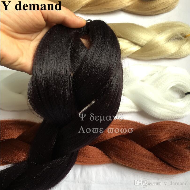 Xpression capelli sintetici intrecciati all'ingrosso economici 82 pollici 165 grammi monocolore premium ultra treccia Kanekalon Jumbo trecce estensioni dei capelli Y