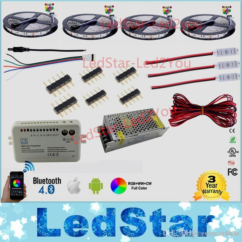 30m 20m Bluetooth Led Strip Rgb Rgbw Dual Color Dimmable 5050 3528 ...