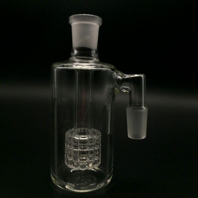 New Glass Ash catcher bong 45 & 90 degrees 14mm 18mm matrix perc glass ashcatcher bubbler Bong Oil dab rigs