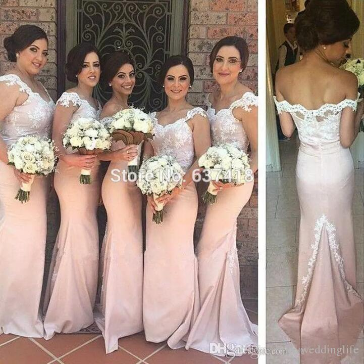 Amazing Rose Gold Long Bridesmaid Dresses 2017 Mermaid Lace Cap Sleeves Maid Of  Honor Gowns Custom Made Wedding Guest Dress Cheap Long Evening Wear  Bridesmaid ...