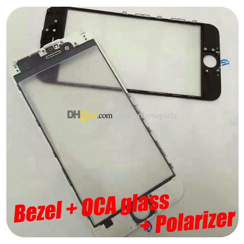 For IPhone 6 6S 7 Plus LCD Bezel Frame With OCA Outer Front Glass ...
