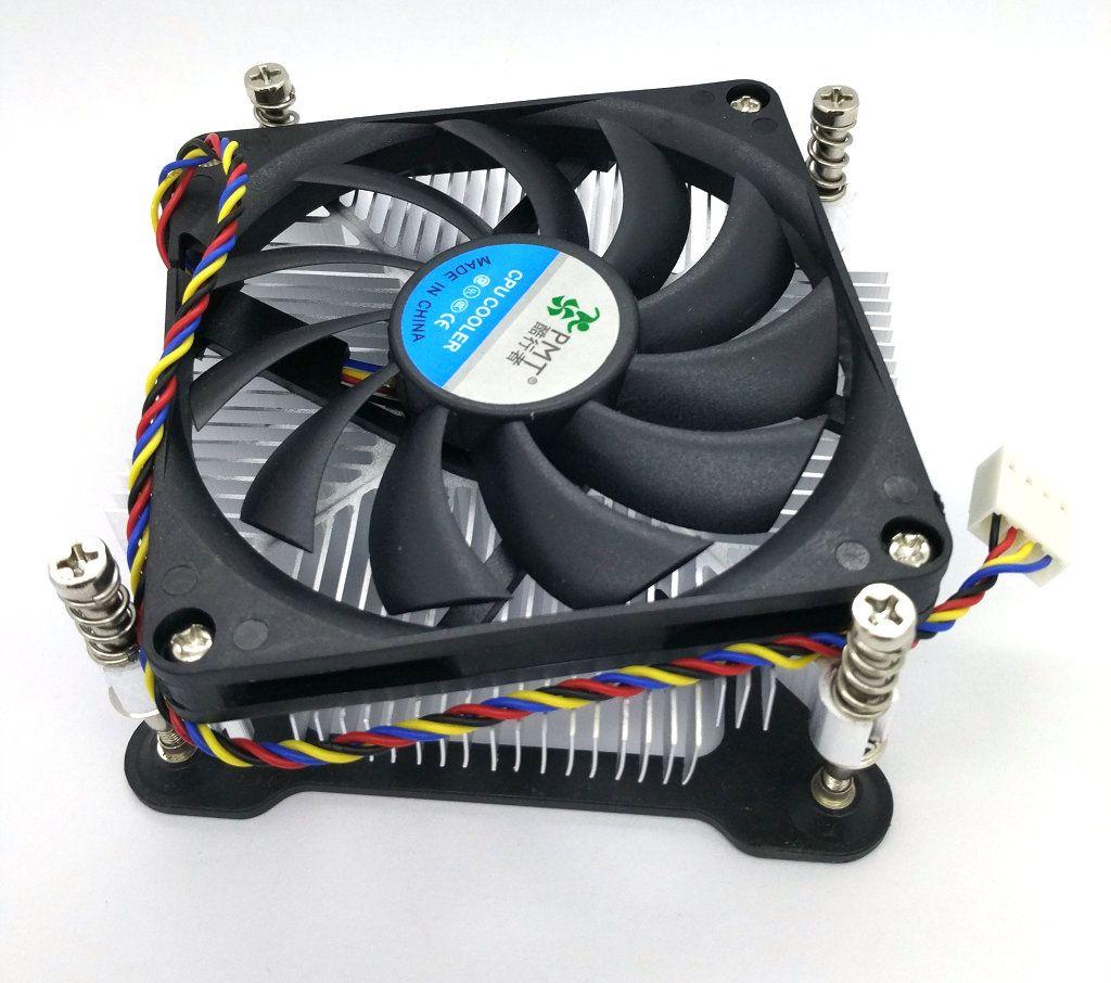 New Original Super thin 1U 1156 1155 copper core CPU radiator thick 28mm single ball silent fan