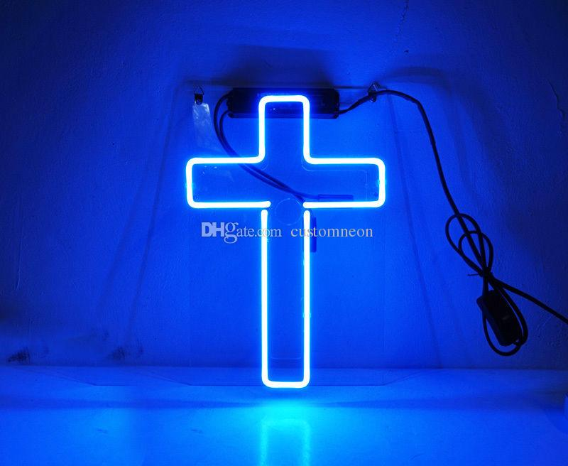 neon decoration interieur neon bar coktail cross pendant. Black Bedroom Furniture Sets. Home Design Ideas