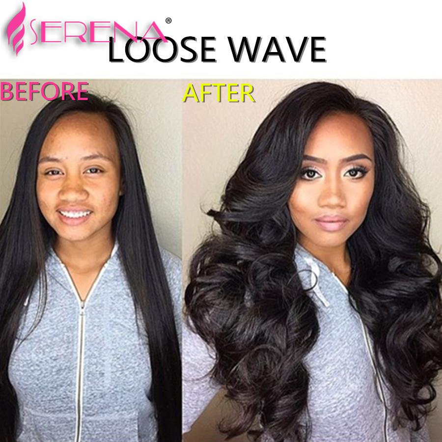 Pre Plucked 360 Lace Frontal Closure With 3 Bundles Brazilian Loose Wave Lace Frontal With Cap And Elastic Straps Knots Bleached
