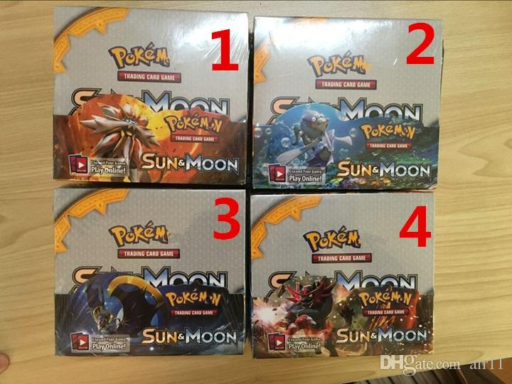 sun &moon Poke Trading Cards Games English Edition Anime Cards Board game Cards 324pcs/lot Kids Toys