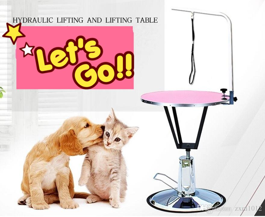 Round Hydraulic Lifting Pet Dog Grooming Table Dog Table for Grooming and Hair Cutting