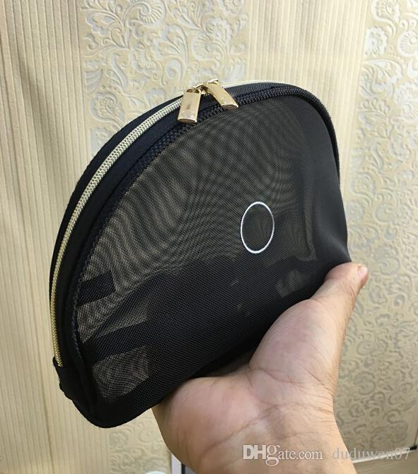 NUOVA borsa della chiusura lampo della maglia di modo di C elegante borsa cosmetica di bellezza famosa di lusso sacchetto dell'organizzatore del progettista di trucco caso di cortesia Regalo di VIP