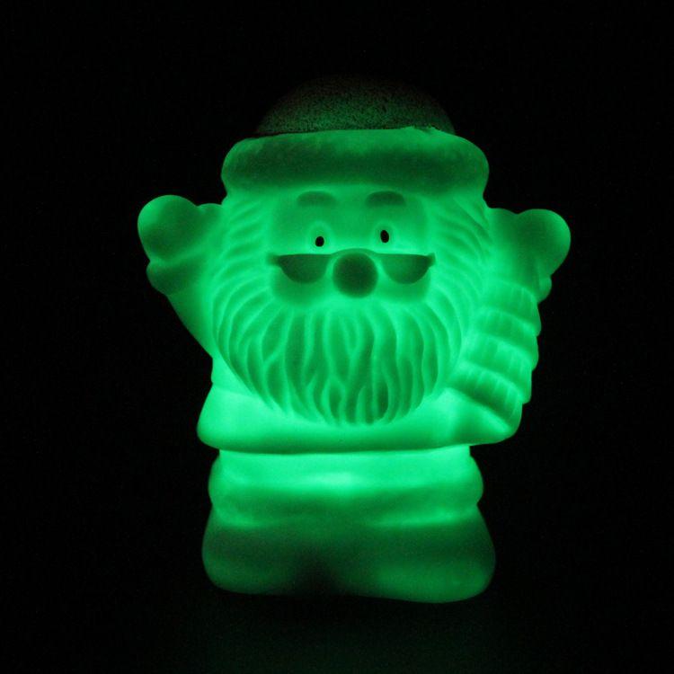 Lámpara de decoración navideña LED Colorido muñeco de nieve Setas Papá Noel, colorido cambiante regalo de luz nocturna /