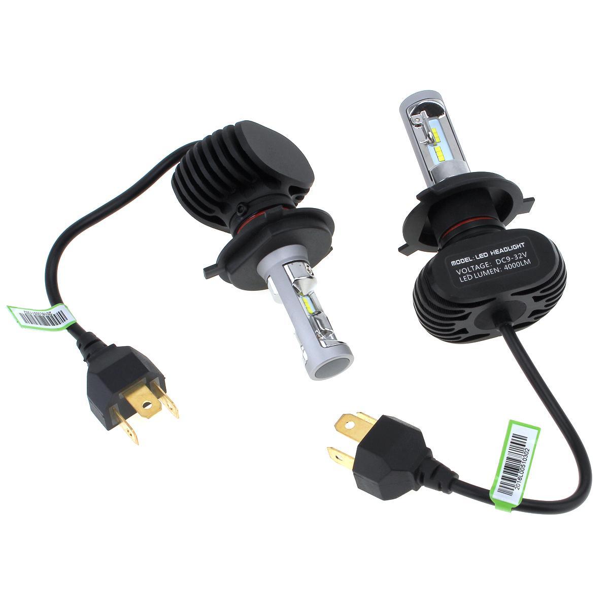 S1 H4 Auto Faro auto 50W 8000LM 6000K Automobile Lampada antinebbia CSP LED Light CLT_60E