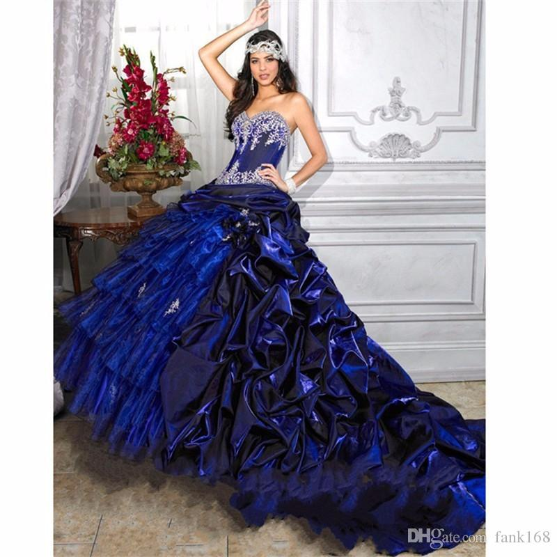 Royal Blue Masquerade Ball Gowns