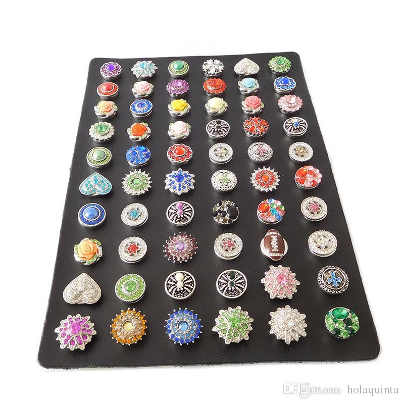 / noir en cuir véritable bouton pression affichage gingembre boutons-pression montrer conseil fit 18mm 12mm bouton pression bijoux