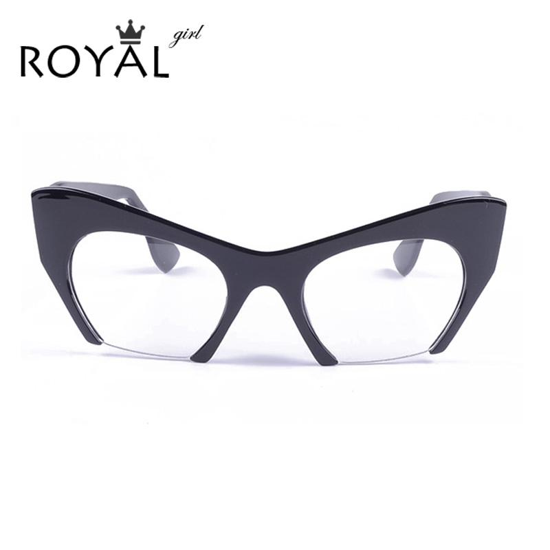 ec4579a4cee Wholesale- ROYAL GIRL Sexy Women Glasses Acetate Cat Eye Eyeglasses Vintage  Glasses Frames Ss291 Sunglasses Sunglasses Exchange Sunglasses Sport Online  with ...