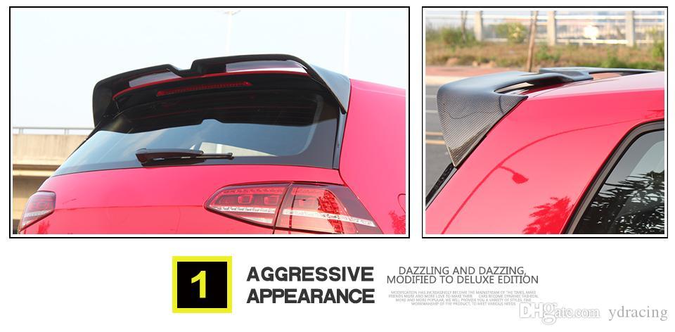 Golf GTI In Fibra di Carbonio Auto Spoiler Posteriore Tetto Alettone Volkswagen VW Golf 7 VII MK7 GTI R Hatchblack 2014-2017