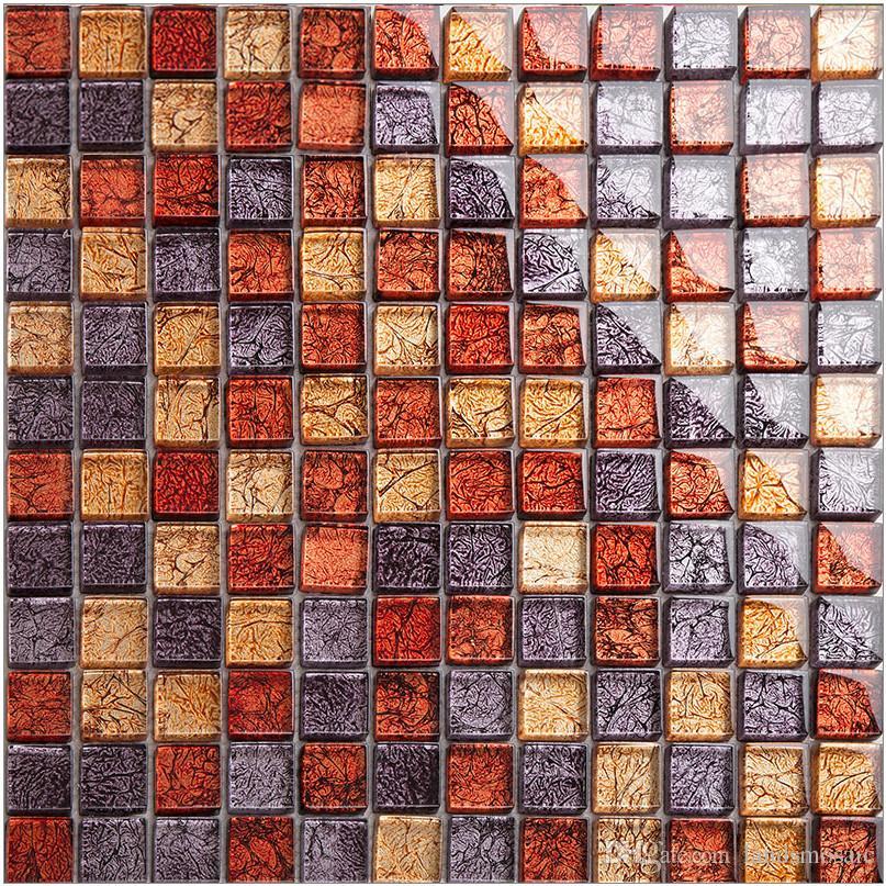 Compre ¡caliente! Azulejos De Mosaico De Vidrio De La Hoja De Oro ...