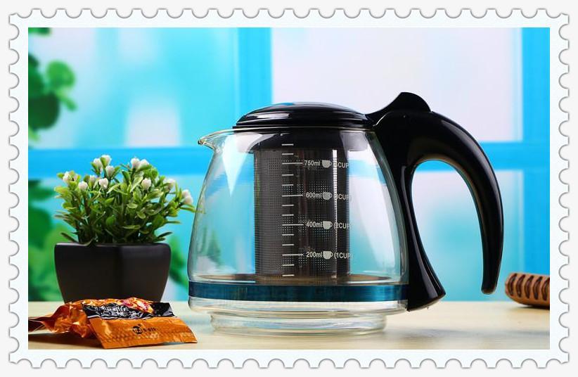 750 ml 1100 ml Dos tipos Tetera China Puer Tetera Caliente Resistente Kung Fu Tetera de Cristal Envío gratis