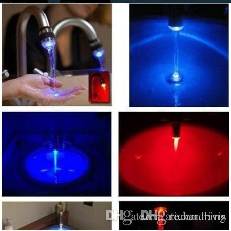 2018 Wholesale Led Water Faucet Light Changing Shower Bathro Om ...