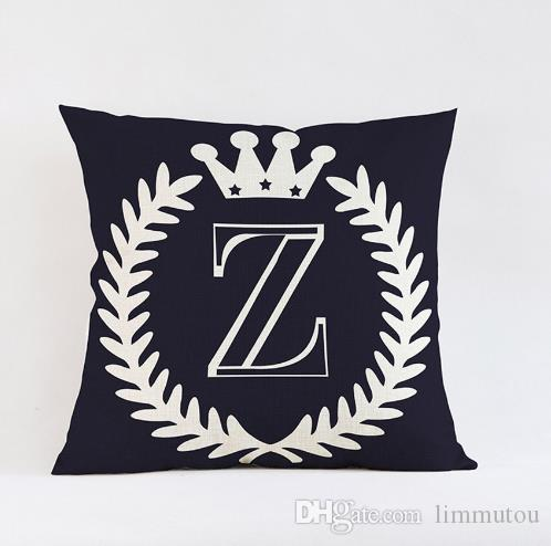 Alphabet cushion pillow case decorative letter z i love for Furniture 5 letters word whizzle