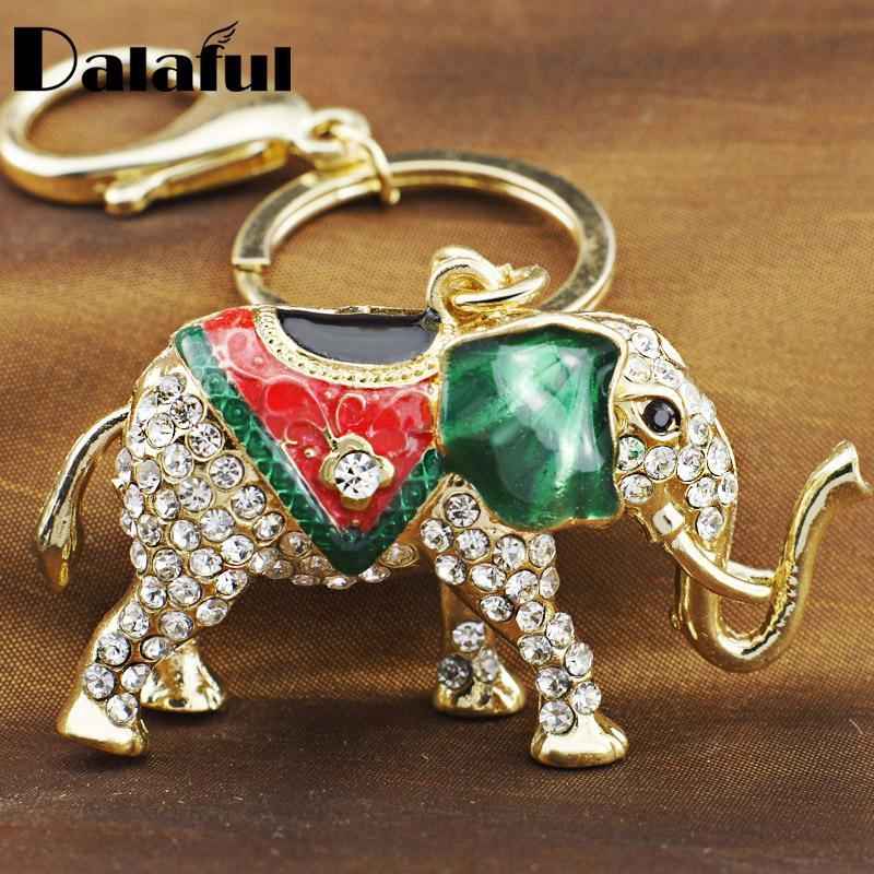 33fce7ac98a beijia Lucky Elephant Crystal Keyring Keychains For Car HandBag Pendant  Purse Bag Buckle Gift Key Holder K202