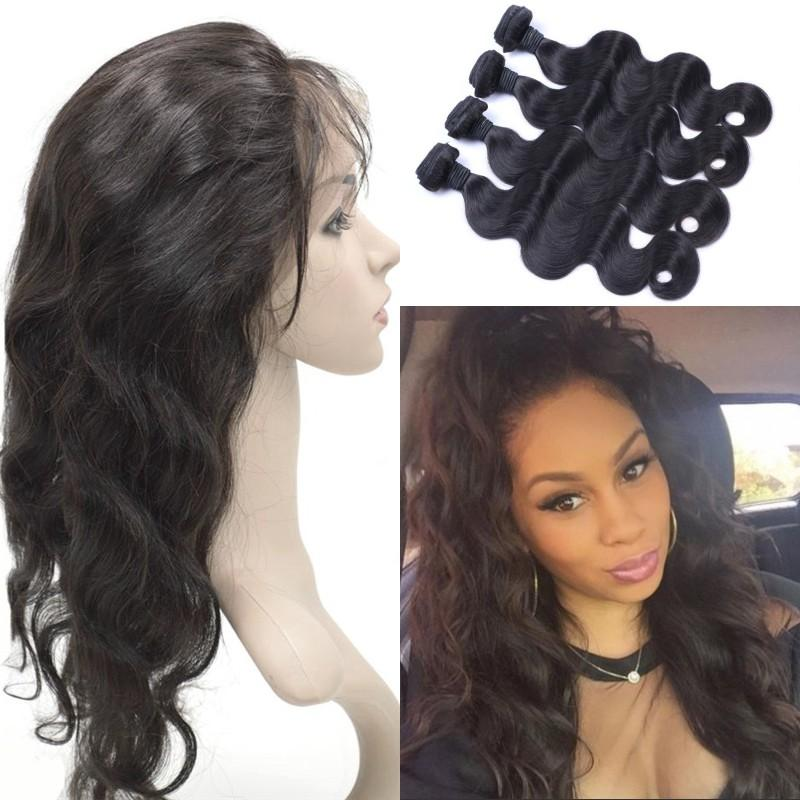 2018 Vietnamese Hair 360 Lace Frontal With Bundles Body Wave Human