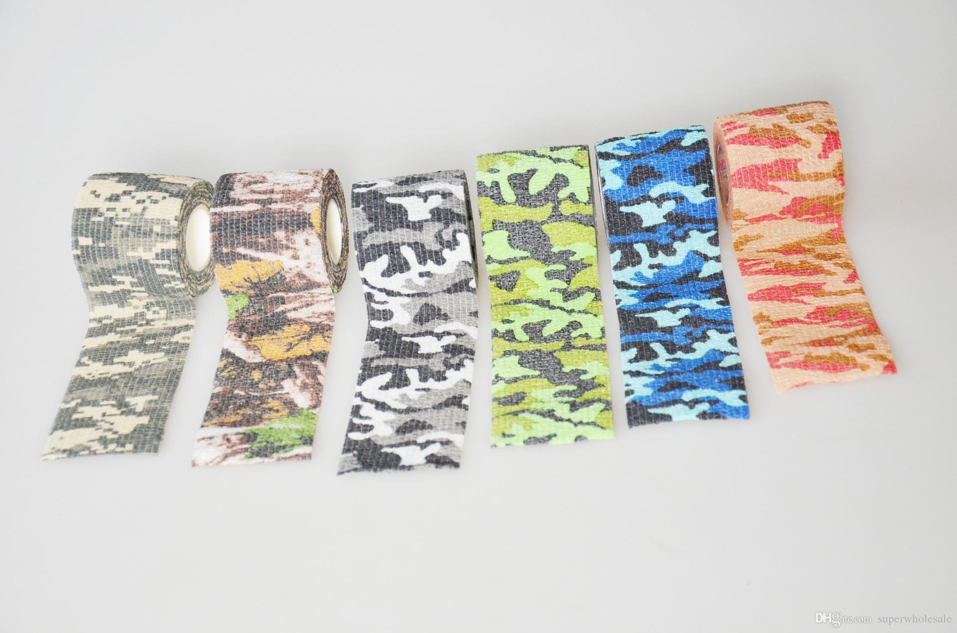 Самоклеящаяся защитная камуфляжная лента 5 * 45M Тактическая камуфляжная форма Многофункциональная нетканая ткань Stealth Tape Stretch Bandage