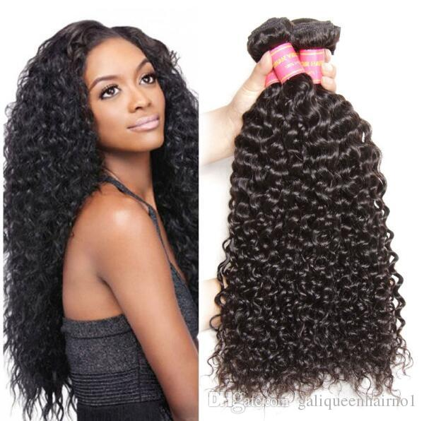 Brazilian Human Remy Virgin Hair Jerry Curly Hair Weaves Natural