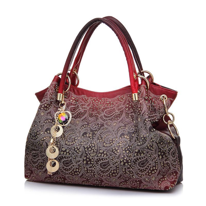 Wholesale Brand Designer Handbag Female PU Leather Hollow Out Bags Handbags  Color Gradient Tassel Bag Ladies Portable Shoulder Bag Leather Purse Women  Bags ... 07ecd6721e450