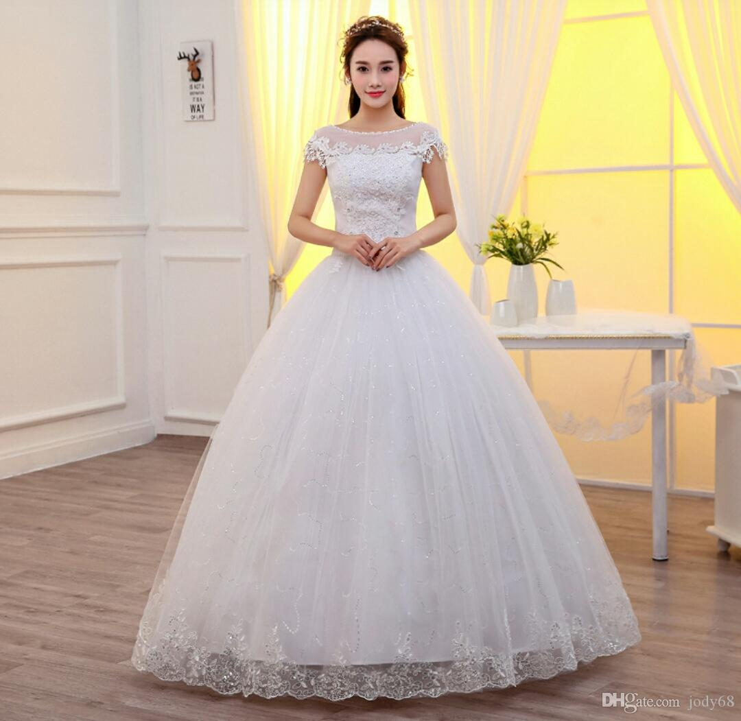2017 latest wedding gowns with sleeves black dresses cheap for Www dhgate com wedding dresses