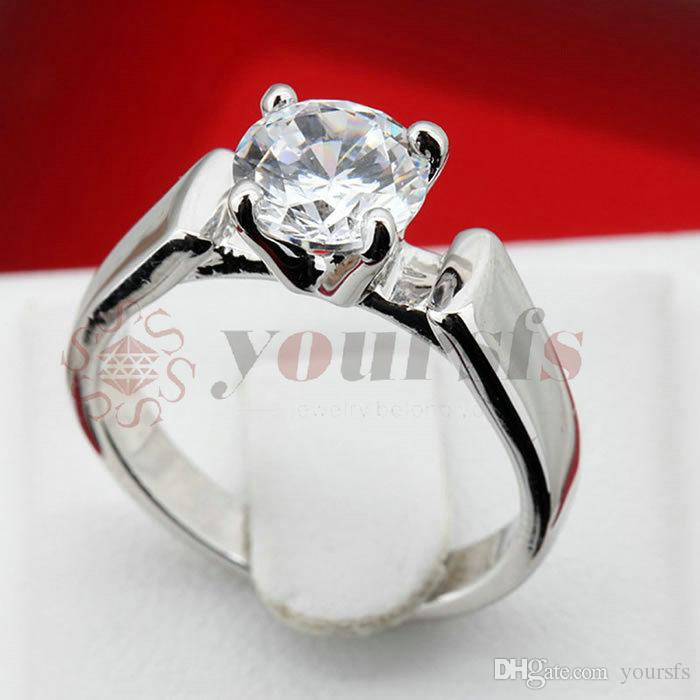 Yoursfs золото плакировкой 18 К четыре коготь квадратной формы кубический Циркон кольцо женщины обручальные кольца для женщин простой ювелирные изделия корейской версии