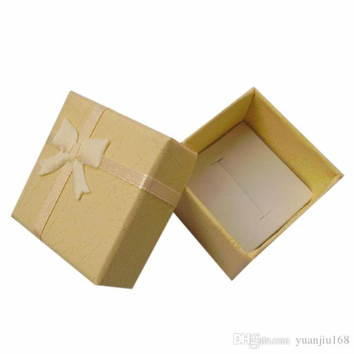 Contenitore di anello dei monili della scatola di presentazione dell'imballaggio della scatola di presentazione dei gioielli di 4 * 4 * 3cm, contenitore di regalo, scatola di presentazione /