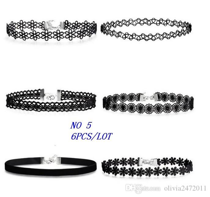 New Gothic Unique Vintage Silver Gold Lace Necklace Fashion Brand Maxi Choker Necklace For Women Sold By Sets GY