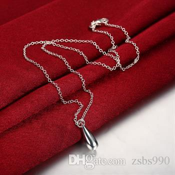 Mode 925 zilveren sieraden sets waterdruppels oorbellen ketting armband en ring charme kerstcadeau heet