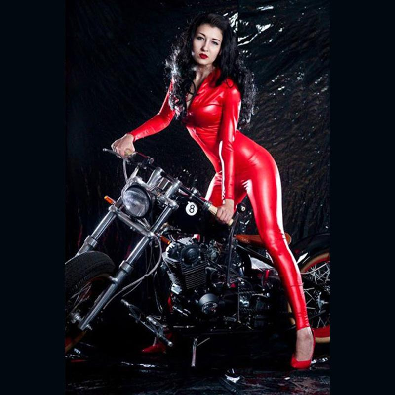 Women in latex and pvc