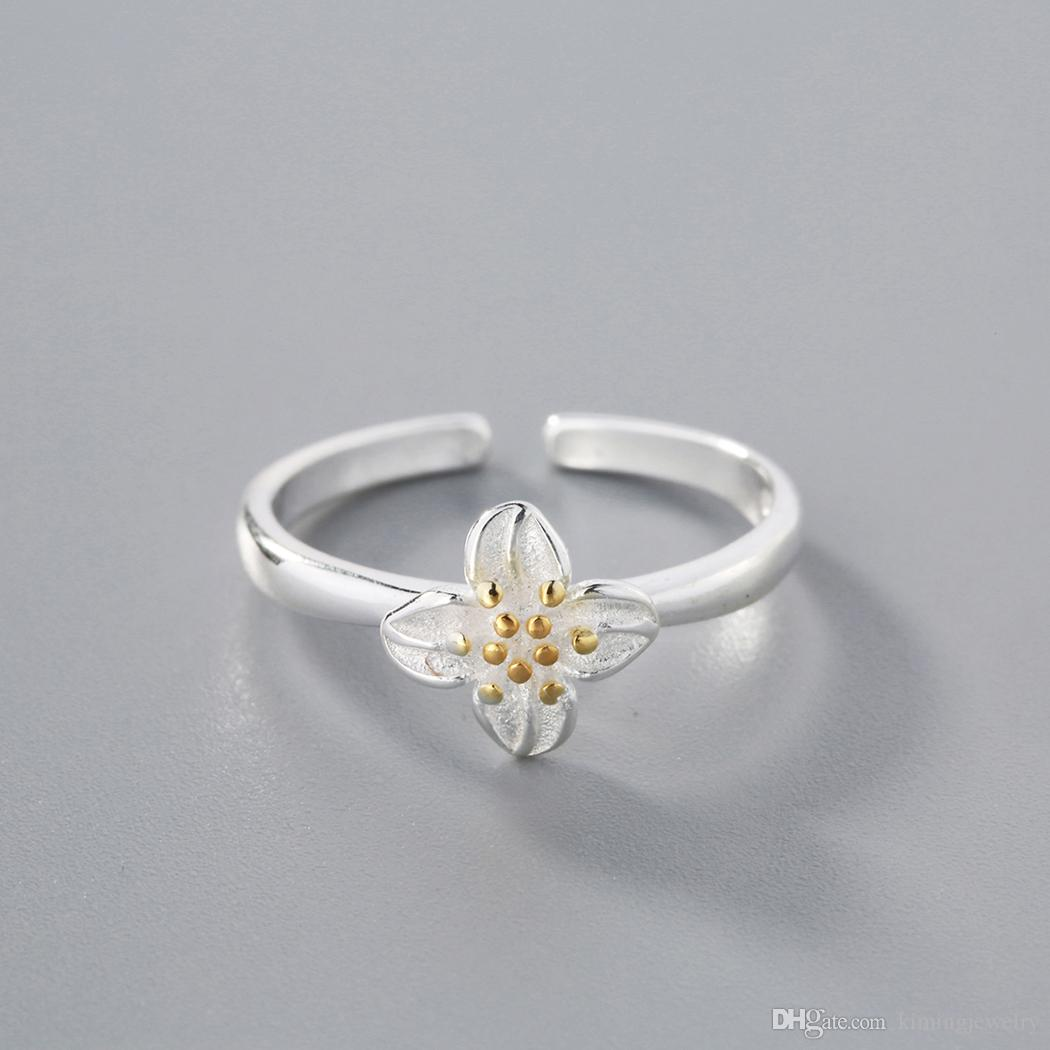 Top Quality Flower 925 Sterling Silver Women Finger Ring Lady Charming Love Bridal Engagement Ring Romantic Female