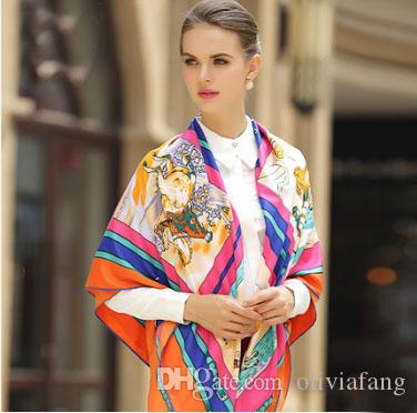 Luxury Scarves & Wraps for Women 2017 Brand Foulard Femme Long Shawl Polyester Silk Pashmina Ponchos and Capes Winter Soft Scarf 130cm Brand