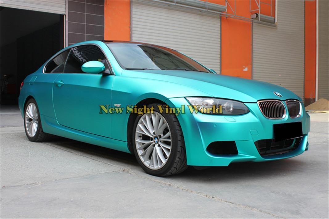 2018 High Quality Tiffany Blue Matte Satin Chrome Car