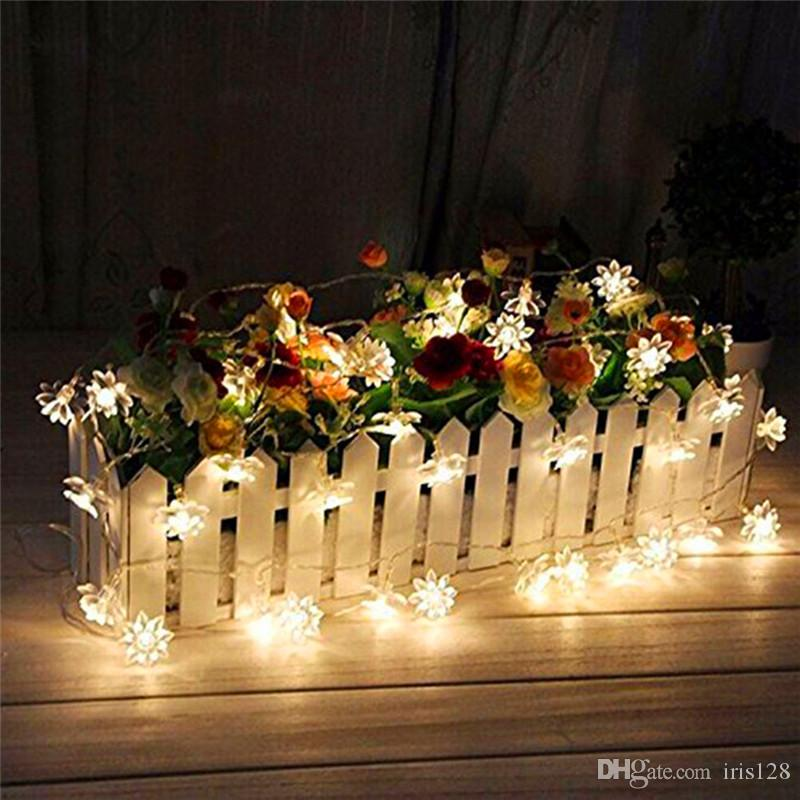 20 led solar powered lotus flower outdoor string lights solar 20 led solar powered lotus flower outdoor string lights solar lantern lamps for garden wedding christmas party festival outdoor indoor decor patio string workwithnaturefo