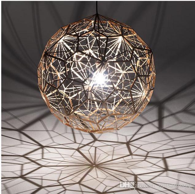 Acheter Lampes Pendantes Modernes Boule Ronde Argent Or Cuivre ...