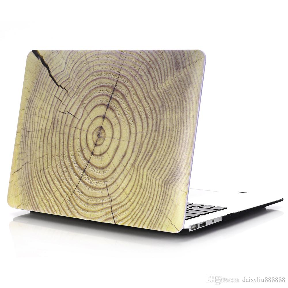 WOOD GRAIN PU Leather Laptop Cases For Macbook Air Pro Retina 11 12 13 15 Laptop Cover For Macbook 13.3 inch