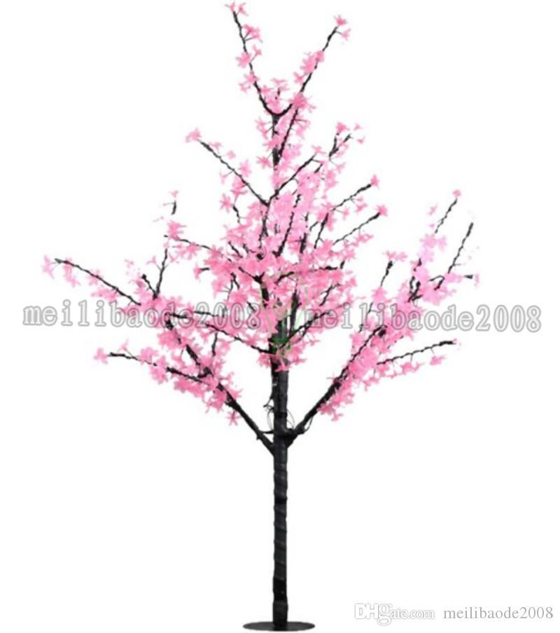 2017 новый ручной работы искусственный LED вишня цветение дерево ночник Новый Год Рождество свадебные украшения огни 120 см 240LED дерево свет MYY