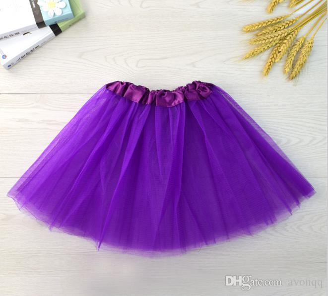 21 couleurs bébé tutu robes enfants filles ballet dancewear mini jupe courte pettiskirt la performance de danse costume robe de bal soirée porter