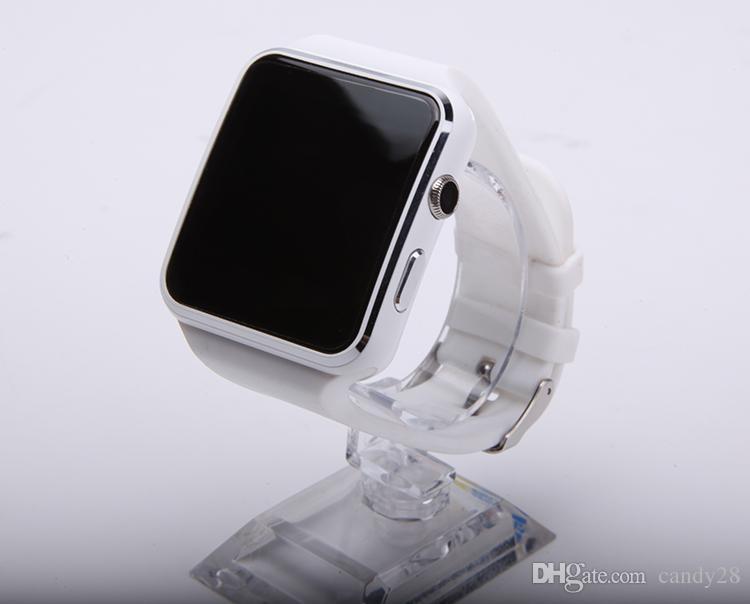 Bluetooth Smart Watches X6 Sport Smartwatch 1.54 дюймов 0.3 M камера FM поддержка SIM-карты для iPhone Android телефон Smart Watch Phone
