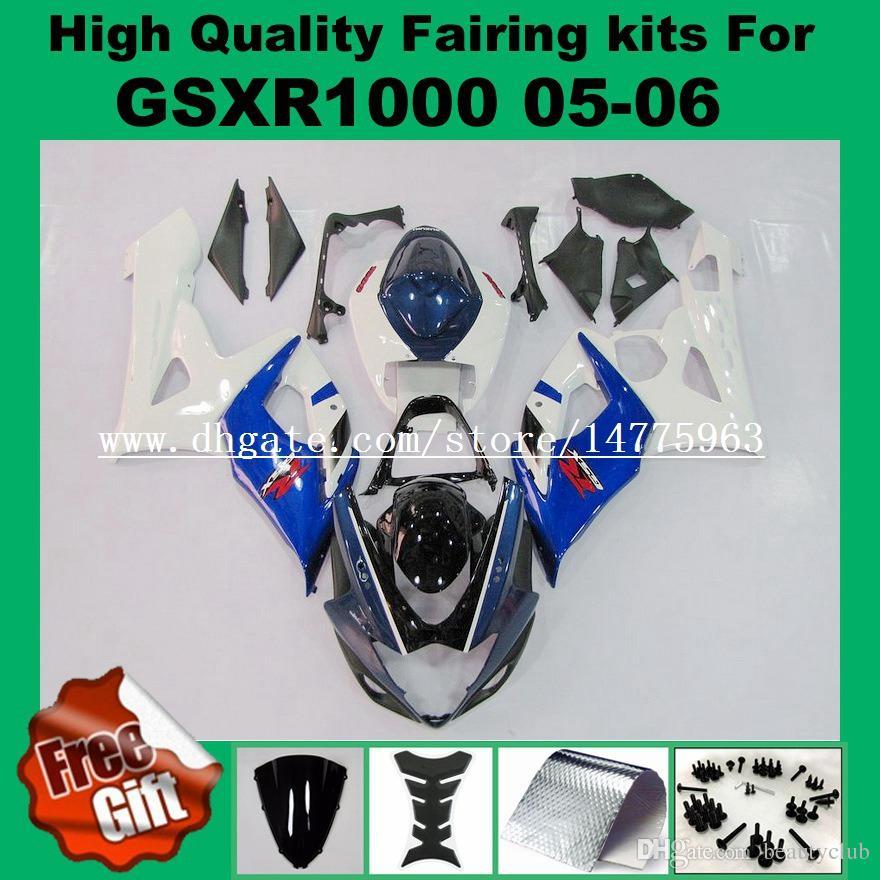 Kit de carenado 100% apropiado para SUZUKI GSXR1000 2005 2006 GSX-R1000 05 06 Kit de carenados GSXR 1000 2005 2006 K5 K6 amarillo azul carenado kits de carenado