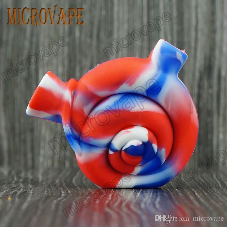Eyc snail shape mini silicone smoke bubbler dab rig water bongs and good quality by free DHL ship